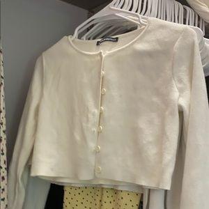 Brandy Melville white athelia top
